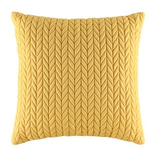 Five Queens Court Catori Yellow Square Throw Pillow
