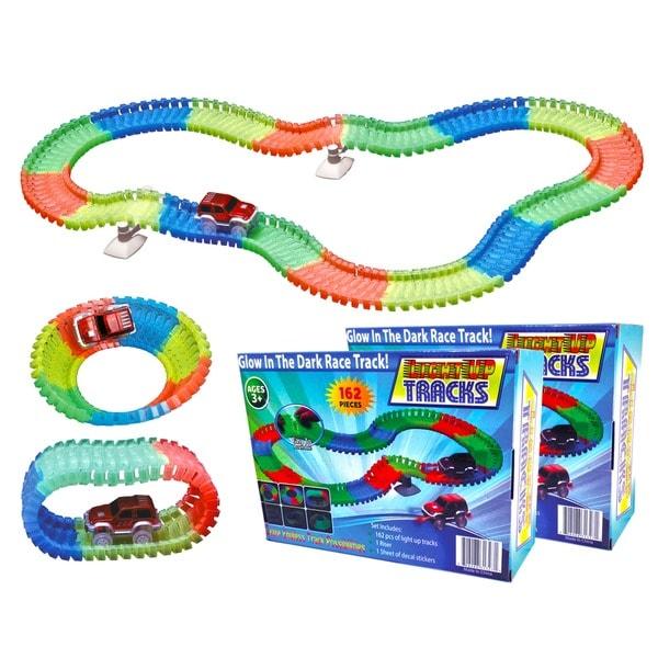 2 Magic Twister Glow In The Dark Light Up Race Track Set