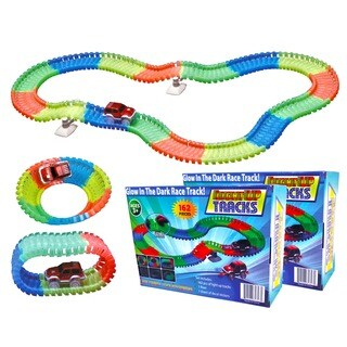 2 Magic Twister Glow In The Dark Light Up Race Track Set