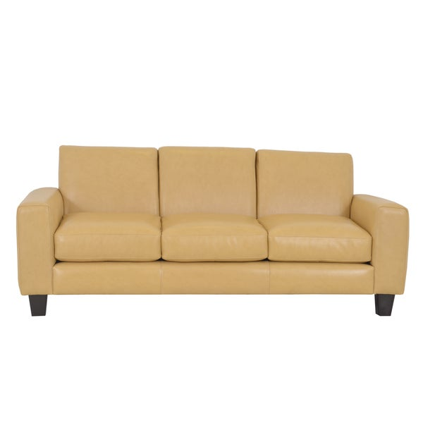Best Genuine Leather Sectional Sofa: Shop Made To Order Columbia Genuine Top Grain Leather Sofa