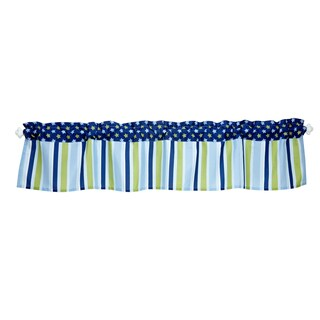 Blue and Green Number 1 Team Window Valance