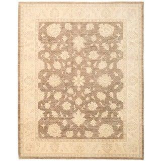 Herat Oriental Afghan Hand-knotted Vegetable Dye Oushak Wool Rug (8'10 x 11'4)