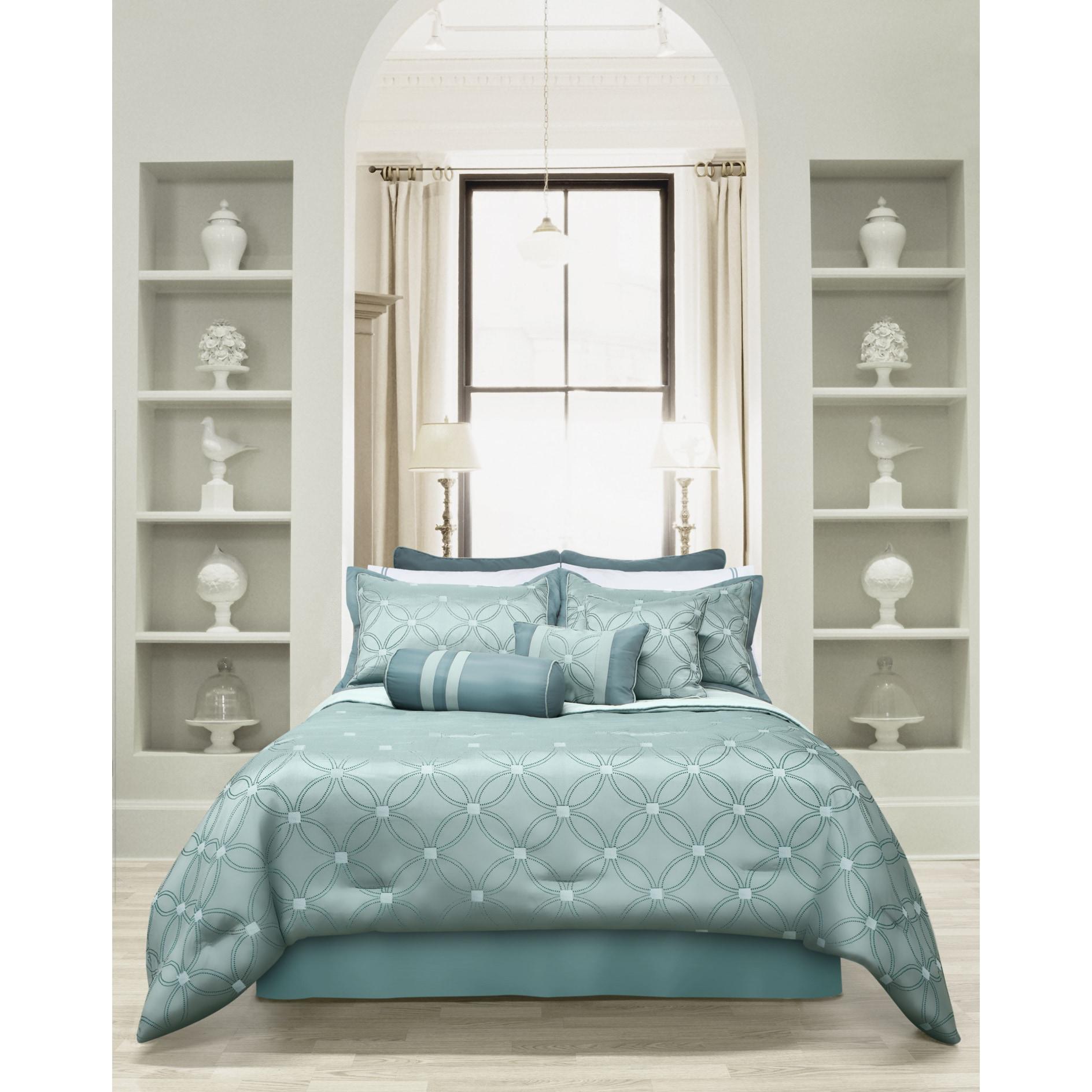 Universe 7 Piece Jacquard Sage Comforter Set Overstock 14139503