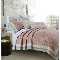 Shop Laura Ashley Ruffled Garden Quilt Free Shipping Today 9481308