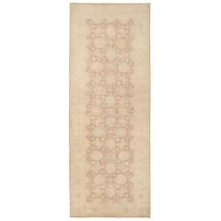 Herat Oriental Afghan Hand-knotted Vegetable Dye Oushak Wool Runner (4'1 x 10'9)