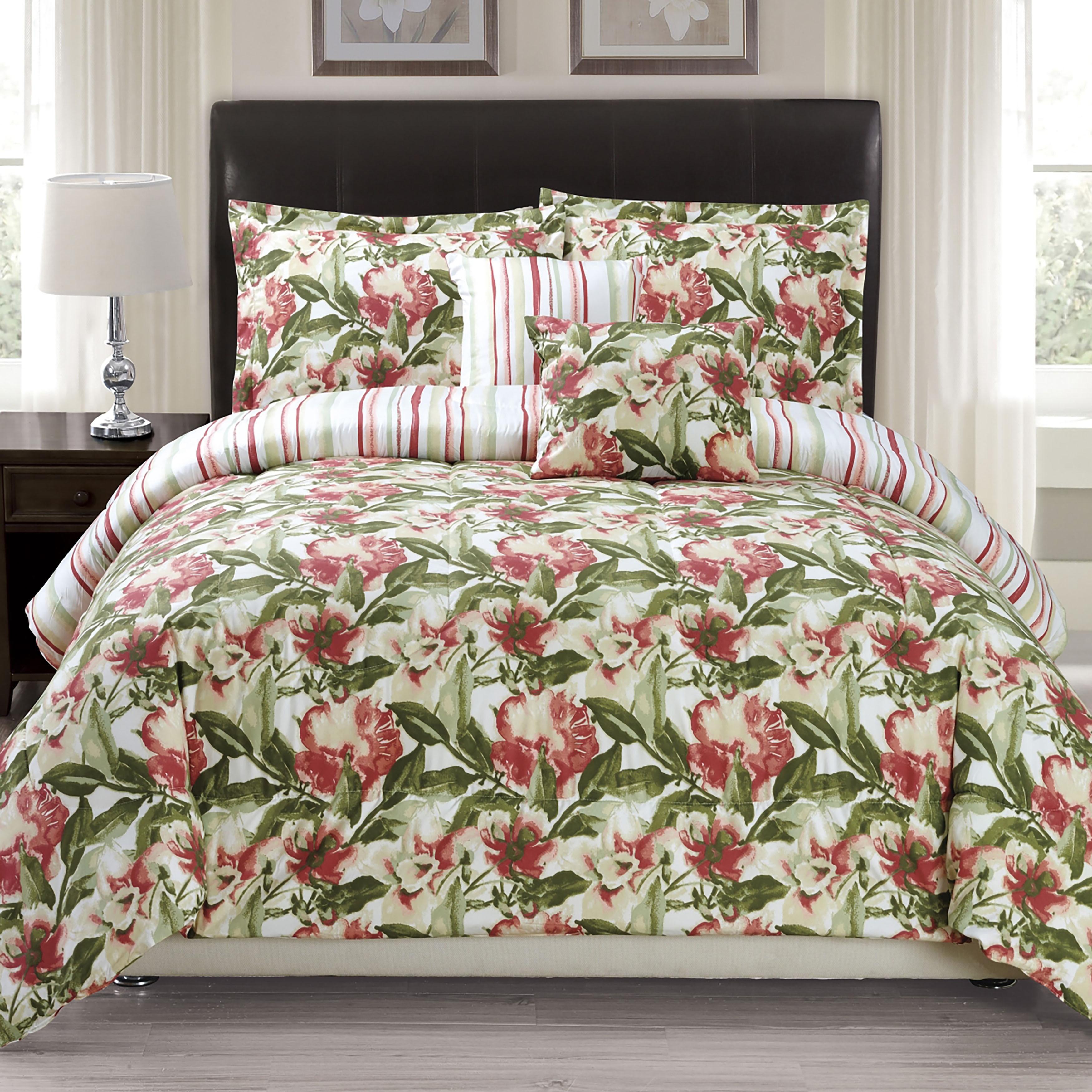 Panama Jack Orchid Grace 5-piece Comforter Set (King), Gr...