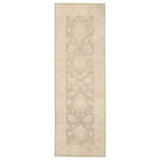 Herat Oriental Afghan Hand-knotted Vegetable Dye Oushak Wool Runner (2'7 x 8')