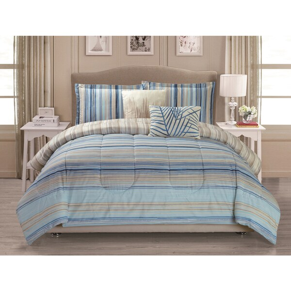 Panama Jack Calm Tide Blue 5-piece Comforter Set