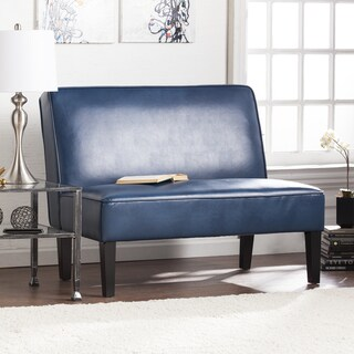 Harper Blvd Brookdale Faux Leather Settee Bench - Blanche Royal