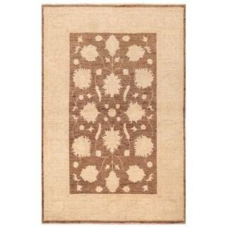Herat Oriental Afghan Hand-knotted Vegetable Dye Oushak Wool Rug (3'4 x 5')