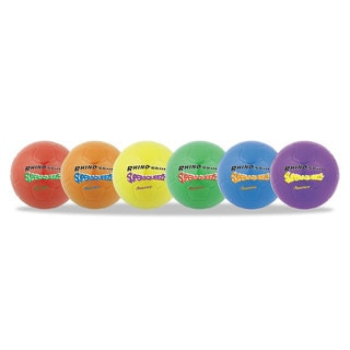 Champion Sports Super Squeeze Soccer Ball Set 8-inch Diameter Assorted Colors (Box of 6)