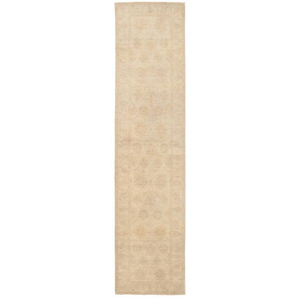 Herat Oriental Afghan Hand-knotted Vegetable Dye Oushak Wool Runner (2'4 x 10')