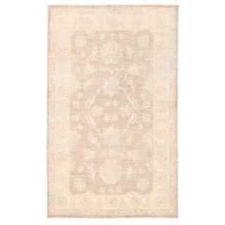Herat Oriental Afghan Hand-knotted Vegetable Dye Oushak Wool Rug (3' x 4'11)
