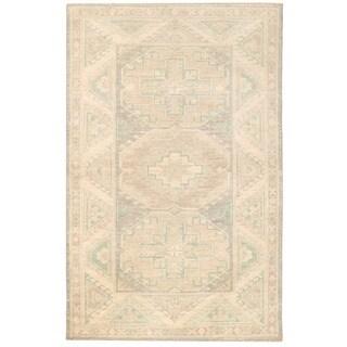 Herat Oriental Afghan Hand-knotted Vegetable Dye Kazak Wool Rug (3'2 x 5')