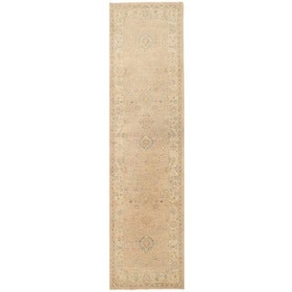 Herat Oriental Afghan Hand-knotted Vegetable Dye Oushak Wool Runner (2'8 x 10'3)