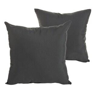 Sunbrella Canvas Black Indoor/ Outdoor Square Knife Edge Pillow Set