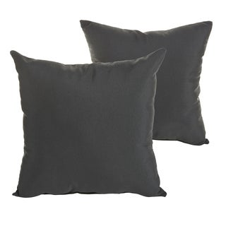 Sunbrella Canvas Black Indoor/ Outdoor Square Knife Edge Pillow Set