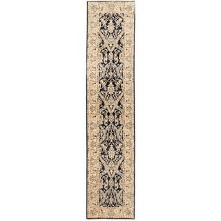 Herat Oriental Afghan Hand-knotted Vegetable Dye Khotan Wool Runner (3' x 13'5)