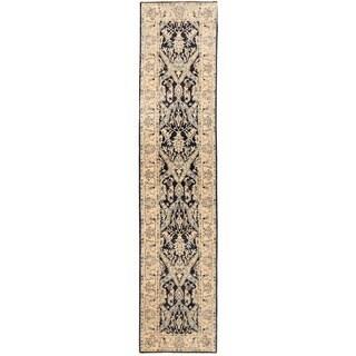 Herat Oriental Afghan Hand-knotted Vegetable Dye Khotan Wool Runner (3' x 13'5)