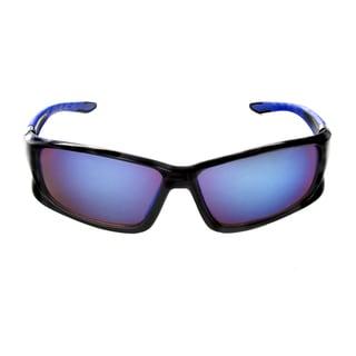 Hot Optix Men's Plastic Mirrored Full-frame Sport Wrap