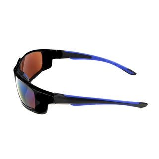 Hot Optix Men's Plastic Mirrored Full-frame Sport Wrap