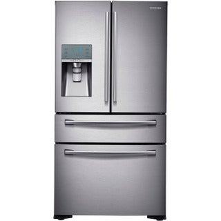 "Samsung 24 Cu.Ft. 36"" Counter Depth 4 Door French Door Refrigerator"