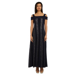 R & M Richards Polyester and Spandex Lace Gown