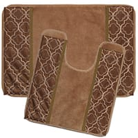 Gold Medallion Bath and Contour Rug Set or Separates