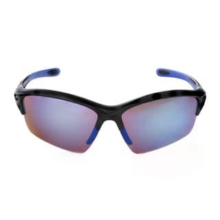 Hot Optix Men's Plastic Mirrored Semi-rimless Sport Wrap Sunglass
