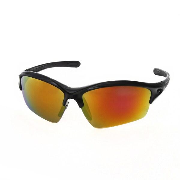 Shop Hot Optix Men's Plastic Mirrored Semi-rimless Sport