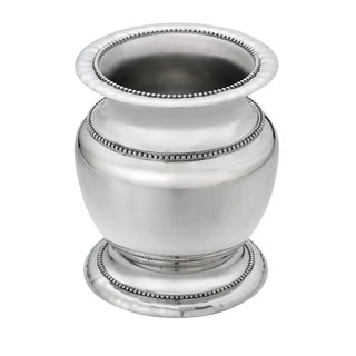 Reed & Barton Heritage Silver Metal Banded Bead Vase