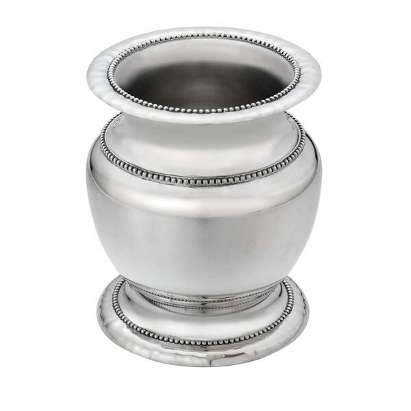 Shop Reed Barton Heritage Silver Metal Banded Bead Vase Free