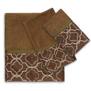 Gold Medallion 3-Piece Bath Towel Set