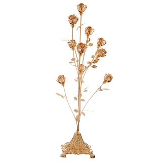 Matashi MTT5174 24k Gold-plated Crystal-studded 10-piece Rose Bouquet Ornament