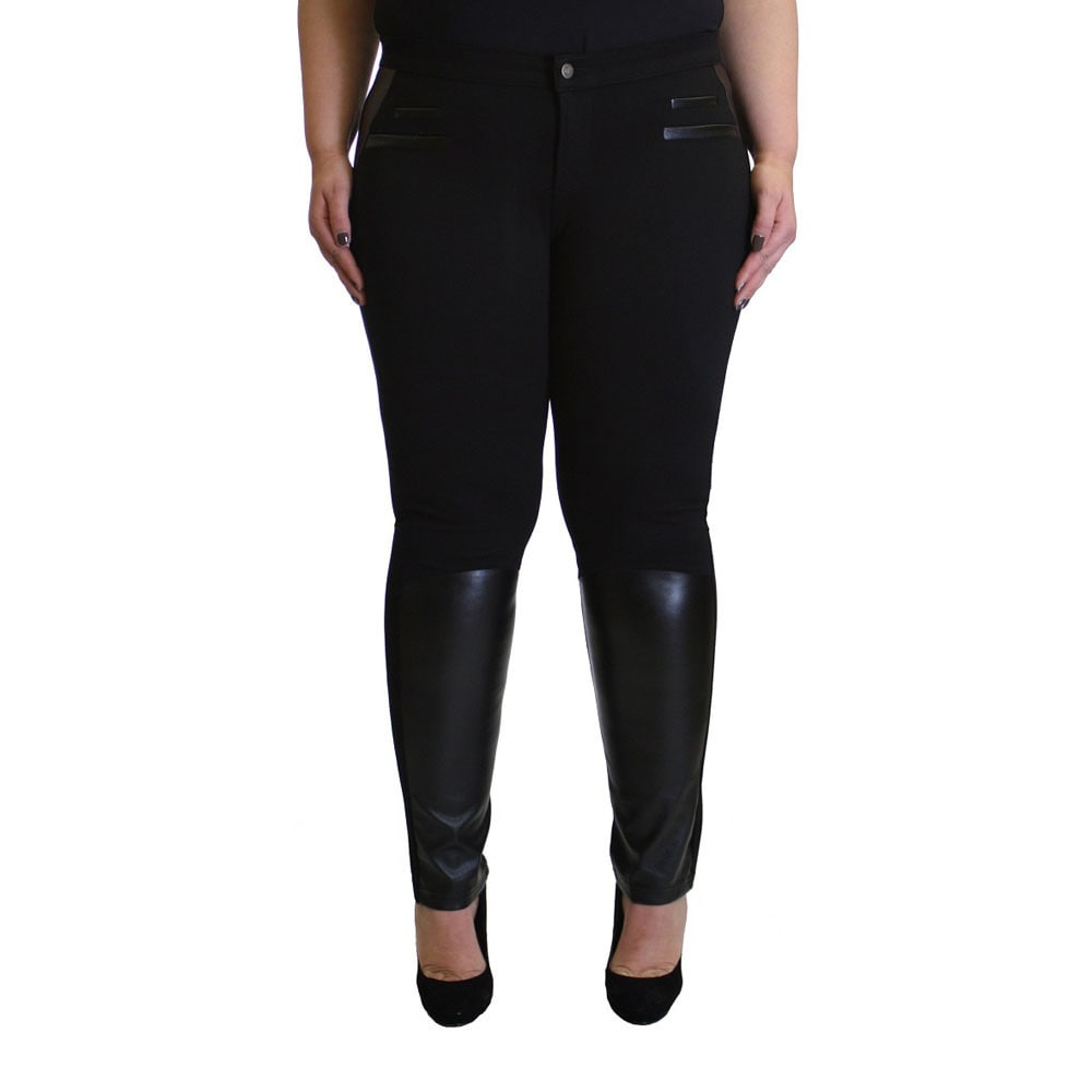 Krazy Love Womens All-black Plus-size Stretchy Legging Pants