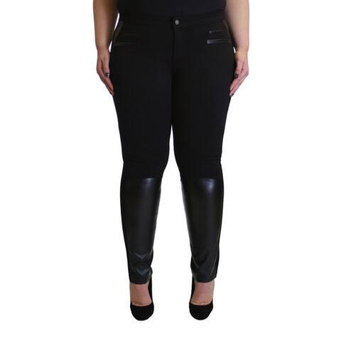 Krazy Love Women's All-black Plus-size Stretchy Legging Pants