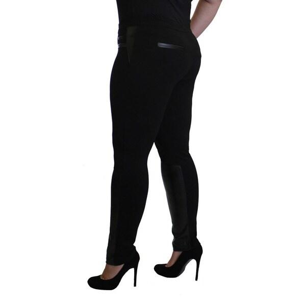 Womens Plus Size Solid Leggings Nylon Stretch Long Full Length 1x 2x 3x