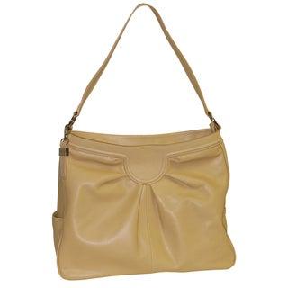 Buxton Johanna Beige Leather Tote Bag