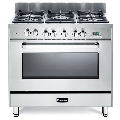 VERONA 36 Inch Pro-Style Dual-Fuel Range (Stainless Steel...