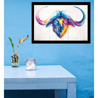 Bastion By Marc Allante (24-inch x 36-inch) with Black Contemporary Poster Frame