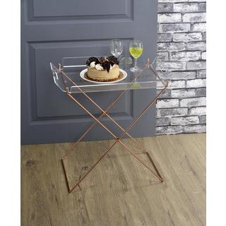 Acme Furniture Cercie Clear Acrylic and Copper Tray Table