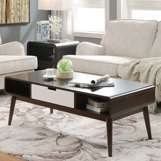 Acme Furniture Christa Cherry and White Occasional Tables