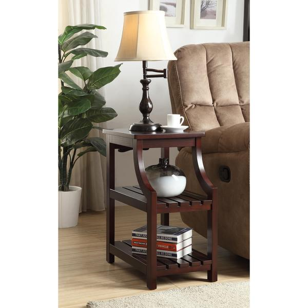 Acme Furniture Wasaki Espresso Side Table With USB Power Dock