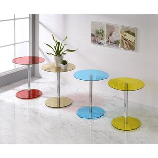 Acme Furniture Halley Multicolor Glass Side Table