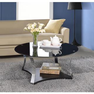 Acme Furniture Geiger Glass Metal Coffee or End Table