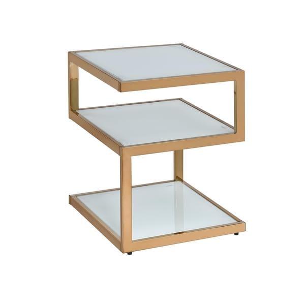Acme Furniture Alyea Glass/Metal End Table