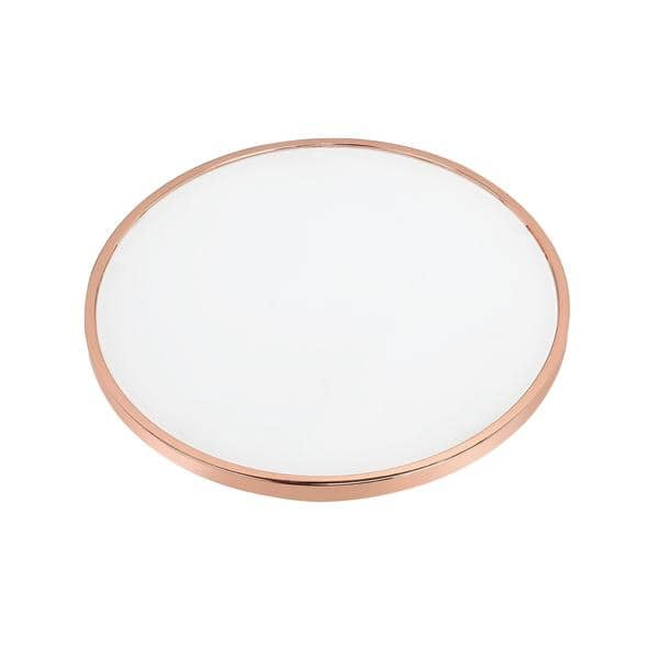 Acme Furniture Alivia Rose Gold Metal And Frosted Glass Table On Sale Overstock 14139691