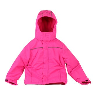 Pulse Jr Girl's Pink Solid Snow Day Jacket