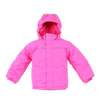 Pulse Toddler Girl's Pink Solid Snow Day Suit