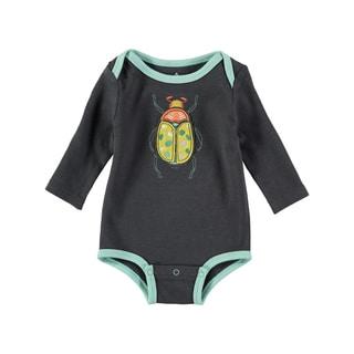 Rockin Baby Boy Dark Grey Bug Applique Bodysuit